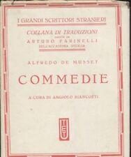 COMMEDIE DI ALFREDO DE MUSSET - UTET i grandi scrittori stranieri 1936 - raro
