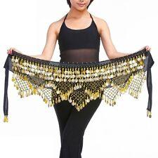 320# Belly Dance Costume Velvet Coins Hip Scarf Tribal Belt Dance Hip Scarf Wrap