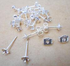 Wholesale Findings Supplies Fashion 925 Sterling Silver Ear Pin Stud Earrings 01