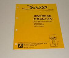 Werkstatthandbuch Citroen Saxo Ausstattung Airbag