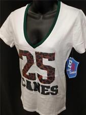 NEW Miami Hurricanes Est. 1925 Womens Sequin Shirt Sizes S-M-L-XL