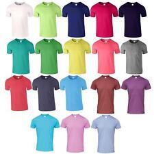 Gildan Plain Mens Soft Style T-Shirt Adult Ringspun Lightweight Fit Shoulders