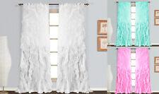 1 Panel Waterfall Shabby Chic Sheer Ruffled Curtain Panel