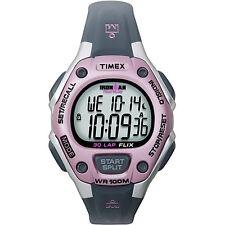 Timex Ironman Watch Water Resistant Black 50 Lap Women's T5K0209J New in Box