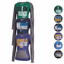 NBA Adidas Team Logo Shriking Type Color Block Pullover Crew Sweatshirt Women's