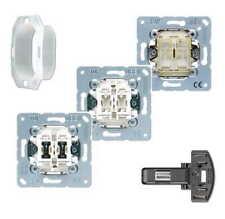 Jung UP-Schalteinsätze Schalter/Taster/Tastschalter/LED/Dichtung