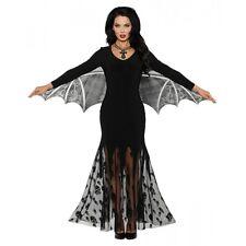 Vampire Costume Adult Gothic Vampira Bat Halloween Fancy Dress
