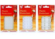 Plastique Protection Pads Dots Self Adhésif Meuble Tampons armoire, 6,10, 21 mm