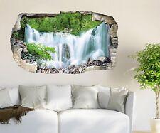 3D Waterfall Jungle 792 Wall Murals Wall Stickers Decal breakthrough AJ WALL CA