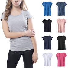 T-shirt Donna Basica Maglia Maglietta Shirt Manica Corta Colorata cotone 00923