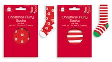 Christmas Fluffy Socks - Winter Unisex Cosy Present Gift Sowflake Elf Stripes