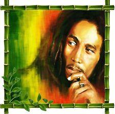 Sticker mural déco bambou Zen Bob Marley réf 5212