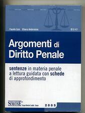 Izzo-Ambrosino# ARGOMENTI DI DIRITTO PENALE # Edizioni Giuridiche Simone 2005 *M