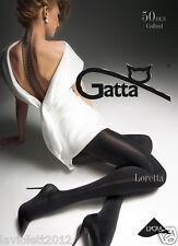Gatta Loretta100. Gemusterte matte Strumpfhose aus Microfibra, 50 DEN, Naht