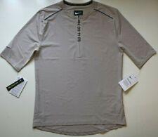 Nike Tech Pack Men Zip Short Sleeve Running Top - Moon Particle Aq6386-286 M Xl