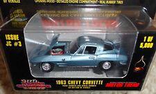 RACING CHAMPIONS MOTOR TREND MAGAZINE JC #3 1963 CORVETTE -VERY RARE! **NIP!**