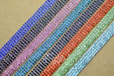 4-row ss10 color rhinestone trims chain silver x 1 yard