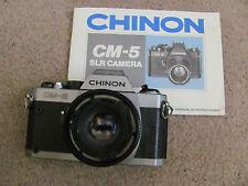 CHINON CM-5 SLR FILM CAMERA