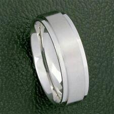 Edelstahl Ring Bandring schmaler schlichter Freundschaftsring Damen Herren 7 mm