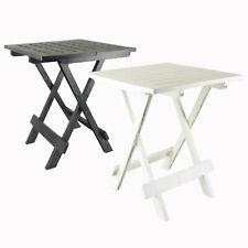 Klapptisch Beistelltisch Terrassen Tisch Campingtisch Klappbar Kunststoff Weiß