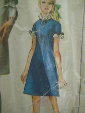 Vintage 60's Simplicity 7737 MINI A-LINE BIAS DART DRESS Sewing Pattern Women