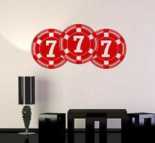 Vinyl Wall Decal Chips Casino Gambling Poker Stickers Mural (ig4286)