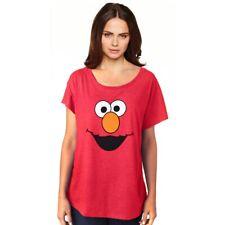 Sesame Street Elmo Face Dolman Junior Women's Shirt Shirt