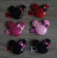 Süße Baby Haarspange Minnie Mouse Haarclip Handarbeit
