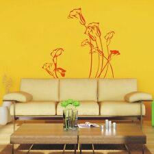 Elegante Fiore Wall art Adesivi, Fiore decalcomania della parete, Fiore Adesivi Da Parete-pd16