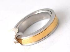 BAGUE ALLIANCE MARIAGE FEMME HOMME ADO ACIER & PLAQUE OR 18K ANTI STRESS 739