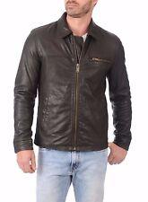 US Men Leather Jacket Hommes veste cuir Herren Lederjacke chaqueta de cuero R80