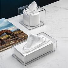 Clear Acrylic Square and Rectangle Napkin Organizer Tissue Dispenser Box Cover