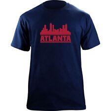Original Atlanta Skyline T-Shirt - Baseball Team Colors