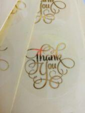 "10X "" Thank You "" Word PVC Foil Sticker/ Label/ DIY Bakery Wedding Invitation"