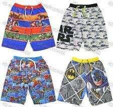 Childrens Boys Character Swimming Swim Beach Board Shorts Marvel Disney DC Comic