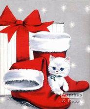 Kitten Stockings (: Art Print of Vintage Art :)