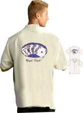 Bobby Chan Royal Flush Poker Gambling Shirt SILK NWT L 2XL S M  WOW!