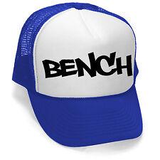 New Men's Bench Hat Blue/White Trucker Hat Cap Workout Gym Fitness Sports V106