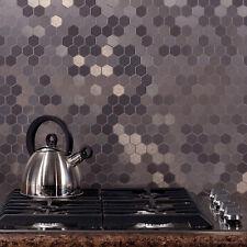 Aspect Peel and Stick Backsplash Honeycomb Matted Metal Tile (15 sq ft Kit)
