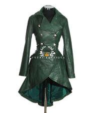 Valentina Vert Femmes Militaire Corset Style Designer Cuir Véritable