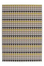 Géométrique Motif Zick Zack Tapis moderne plat Tapis Multi Or SOLDES