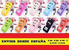 """Funda Iphone 4 5 6 7 plus M & M de colores """"Envío desde España"""""""