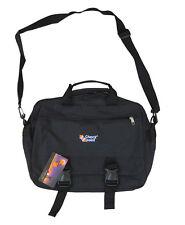 Mens Travel Shoulder Messenger Laptop Man Satchel Tote A4 Document Bag Black New