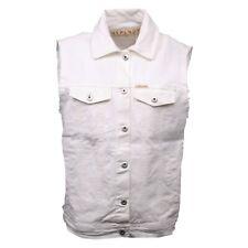 C0198 gilet jeans donna ITALOGY bianco jacket women