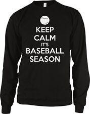 Keep Calm It's Baseball Season Sports Fan Field Stadium Long Sleeve Thermal