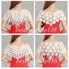 Womens Lace Bolero Shrugs Wedding Party Plain Wrap Cardigan Blouse Tops Crochet