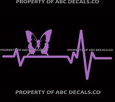 VRS HEART BEAT LINE ANIMAL BUTTERFLY rough Monarch Swallowtail CAR VINYL DECAL