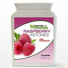 MAX Strength Raspberry Ketones HIGH 600mg Potent Strong Fat Burn Diet BOTTLE