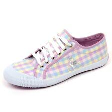 C5864 sneaker donna LE COQ SPORTIF DEAUVILLE MADRAS lilla/azzurro shoe woman