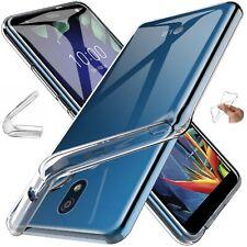 custodia cover X LG K40 / K50 gel gomma soft slim trasparente + pellicola vetro